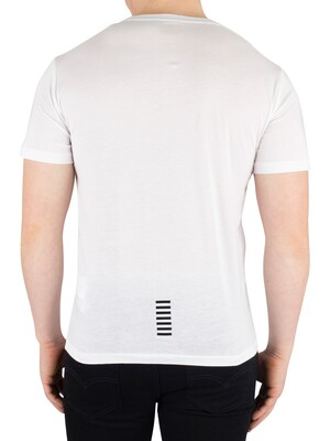 EA7 Chest Logo T-Shirt - White