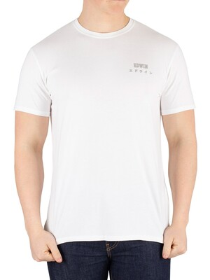 Edwin Logo Chest T-Shirt - White