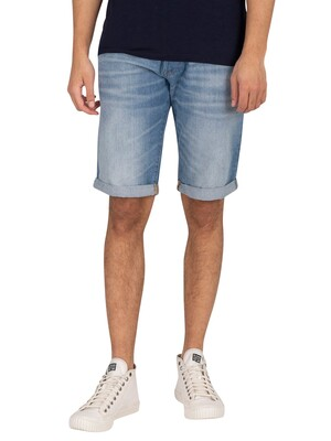 G-Star 3301 Denim Shorts - Light Aged