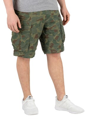 G-Star Rovic Zip Relaxed Cargo Shorts - Sage/Battle Green