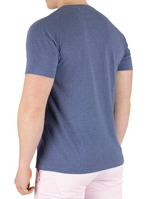 Hackett London Classic Logo T-Shirt - Blue Marl