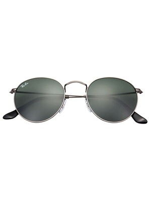 Ray-Ban RB3447 Round Metal Sunglasses - Gunmetal