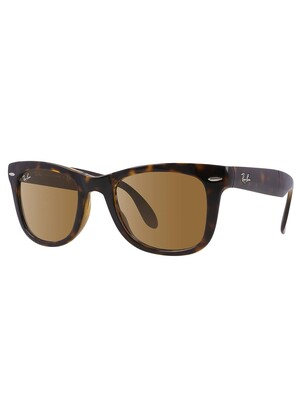 Ray-Ban RB4105 Wayfarer Folding Sunglasses - Tortoise