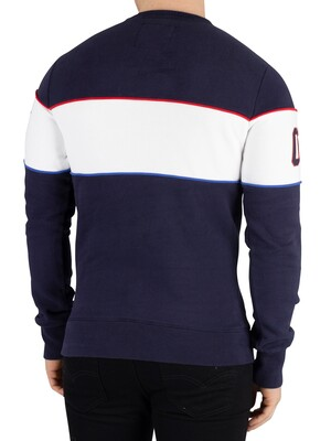 Superdry Retro Stripe Sweatshirt - Navy