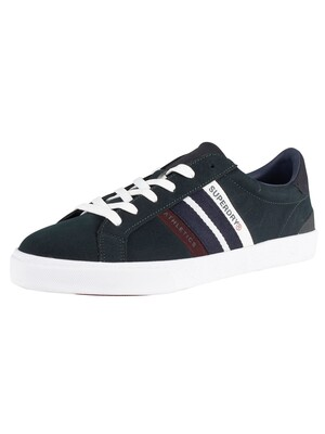 Superdry Vintage Court Trainers - Highland Green/Navy/Port