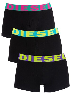 Diesel 3 Pack Shawn Trunks - Black