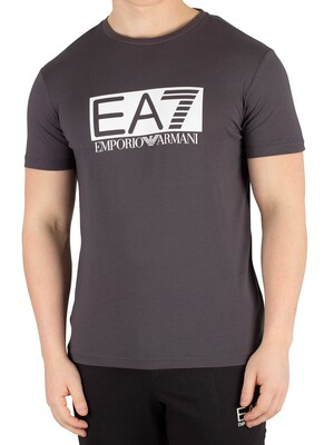 EA7 Box Graphic T-Shirt - Asphalt