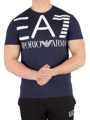 EA7 Graphic T-Shirt - Navy Blue