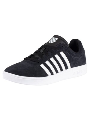 K-Swiss Court Cheswick Suede Trainers - Black/White