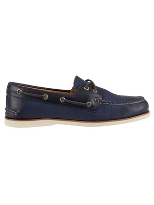 Sperry Top-Sider Gold A/0 2-Eye Boat Shoes - Titan Navy
