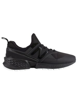 New Balance 574 Leather Trainers - Black