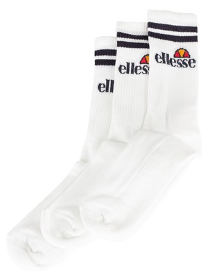 Ellesse 3 Pack Socks - White