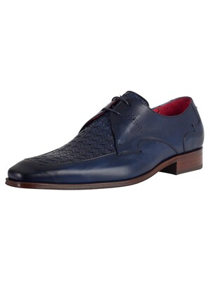 Jeffery West Leather Shoes - Dark Blue