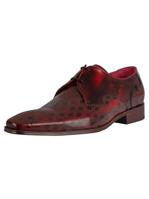 Jeffery West Polished Leather Shoes - Red