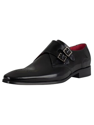 Jeffery West Polished Leather Shoes - Black