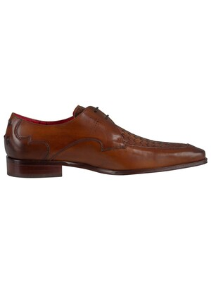 Jeffery West Scarface Leather Shoes - Castano