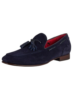 Jeffery West Suede Ibiza Loafer - Dark Blue