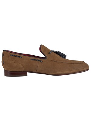 Jeffery West Suede Ibiza Loafer - Rhum/Navy