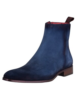 Jeffery West Velour Boots - Jeans Shadow