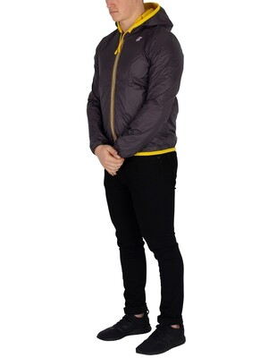 K-Way Jacques Reversible Plus Double Jacket - Yellow/Grey