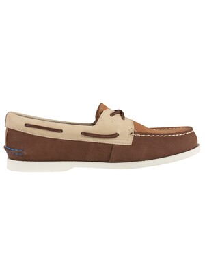 Sperry Top-Sider A/O 2- Eye Plush Washable Boat Shoes - Brown Tan