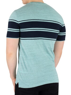 Superdry Dry Originals Stripe T-Shirt - Lotus Pastel Jade Space Dye