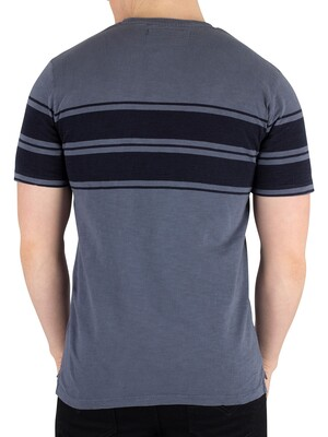 Superdry Dry Originals Stripe T-Shirt - Ocean Pastel Blue