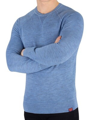Superdry Garment Dyed L.A. Sweatshirt - Washed Air Blue