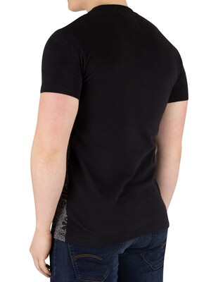 Superdry Vintage Logo Neon Panel T-Shirt - Black