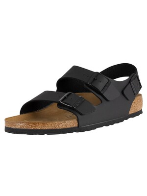 Birkenstock Milano Birko-Flor Narrow Fit Sandals - Black