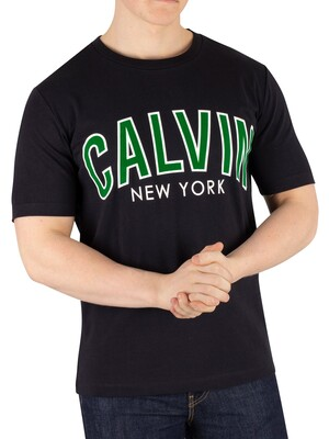 Calvin Klein Jeans Curved Varsity T-Shirt - Black