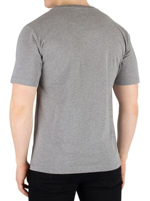 Calvin Klein Jeans Curved Varsity T-Shirt - Grey Heather