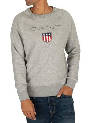 GANT Shield Sweatshirt - Grey Melange