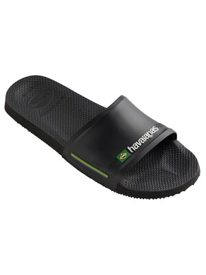 Havaianas Brasil Flag Sliders - Black