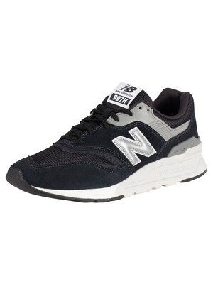 New Balance 977 Suede Trainers - Black/Silver/Grey