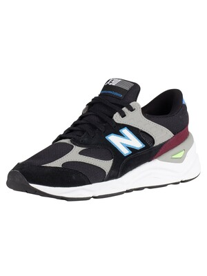 New Balance X-90 Suede Trainers - Black/Light Cobalt