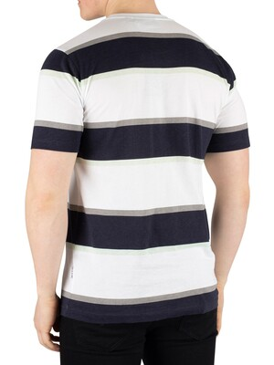Nicce London Colum T-Shirt - White/Deep Navy/Mint