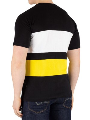Nicce London Masli T-Shirt - Black/Vibrant Yellow