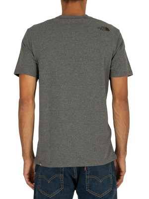 The North Face Fine T-Shirt - Medium Grey Heather