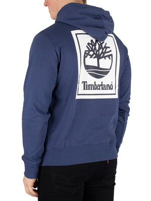 Timberland Logo Pullover Hoodie - Blue