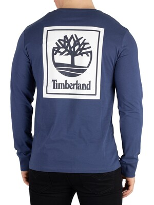 Timberland Longsleeved Graphic T-Shirt - Blue