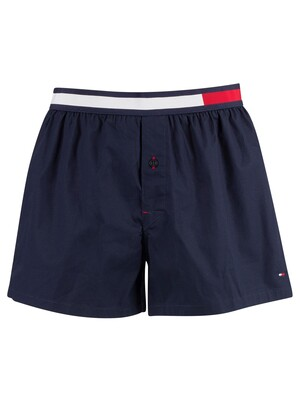 Tommy Hilfiger Colour Block Woven Trunks - Navy Blazer