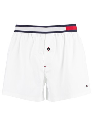 Tommy Hilfiger Colour Block Woven Trunks - White