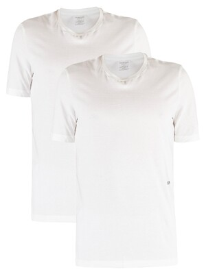 Calvin Klein 2 Pack Crew Neck T-Shirt - White