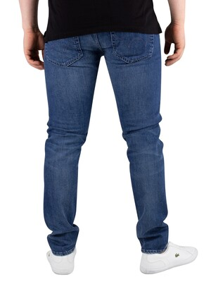 Edwin ED-85 Slim Tapered Drop Crotch Jeans - Brazton Blue Denim