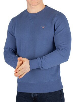 Gant Original Sweatshirt - Hurricane Blue