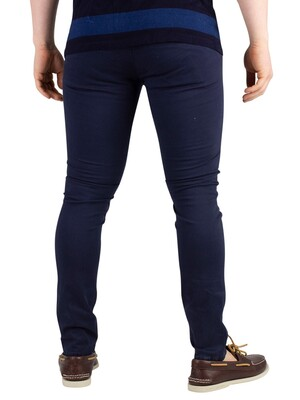 Jack & Jones Liam AKM Skinny Chinos - Navy Blazer