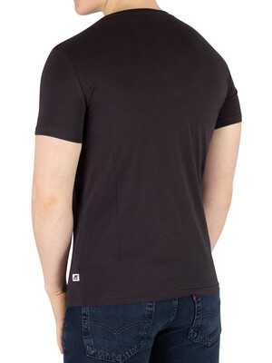 K-Way Pete Macro Slim Fit T-Shirt - Black