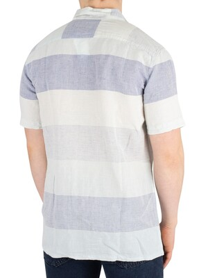 Levi's Cubano Shortsleeved Shirt - Boyer Marshmallow Stripe