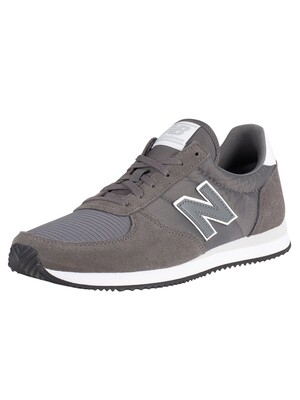 New Balance 220 Suede Trainers - Lead/White